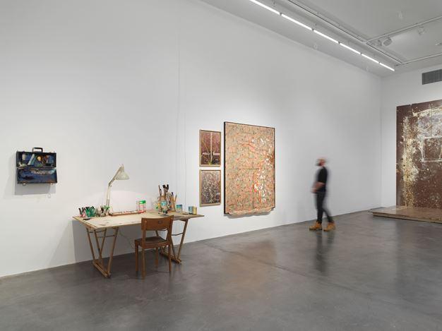 Exhibition view: Dieter Roth and Franz West,Hauser & Wirth, Zürich (15 March–4 May 2019). © Dieter Roth Estate, © Archive Franz West / © 2019 Estate of Franz West. Courtesy the estates and Hauser & Wirth.