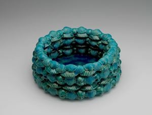 Turkish blue Shells bowl by Wietske Van Leeuwen contemporary artwork