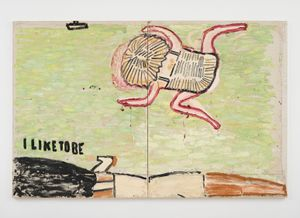 I Like To Be by Rose Wylie contemporary artwork