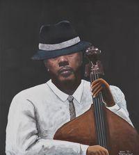 Charles Mingus by Sam Nhlengethwa contemporary artwork mixed media