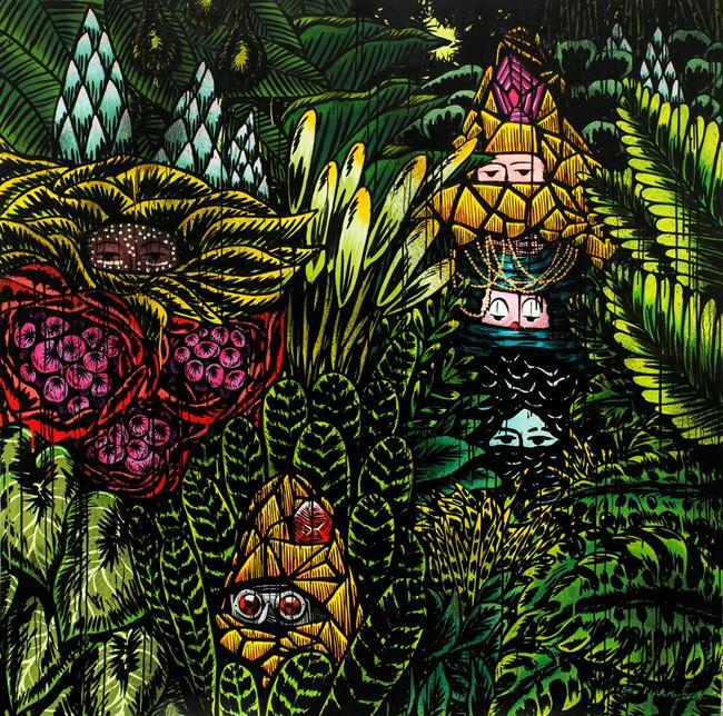 Unity in Hiding #1 by Eko Nugroho contemporary artwork