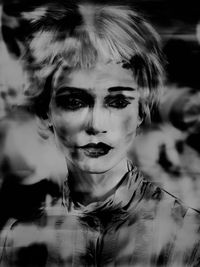 Lady_Shadow, from the series 'Painted Ladies' by Valérie Belin contemporary artwork print