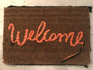 Welcome Mat by Banksy contemporary artwork
