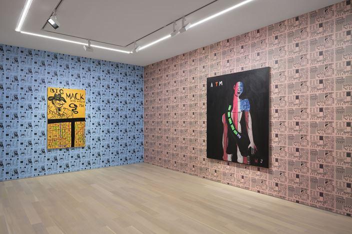 Exhibition view: Marcus Jahmal, Double down, Almine Rech, New York (13 September–19 October 2019). Courtesy Almine Rech. Photo:Matthew Kroening.