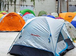 If an artist sets up a homeless camp inside a blue-chip art gallery, does anyone care?