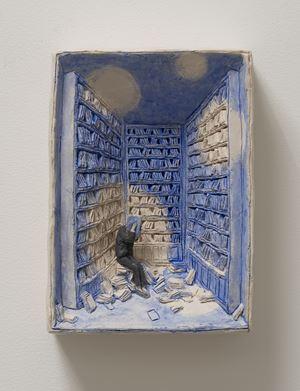 Pensierini blu by Pino Deodato contemporary artwork