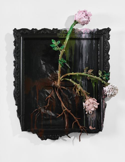 Three Pink Roses (The Covid Diaries Series) by Valerie Hegarty contemporary artwork