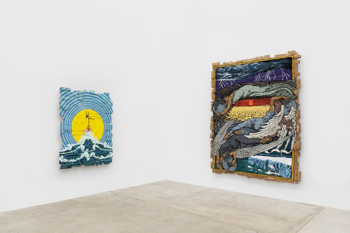 Exhibition view: Andrea Bowers, Think of Our Future, Andrew Kreps Gallery, 22 Cortlandt Alley, New York (10 January–22 February 2020). Courtesy the artist and Andrew Kreps Gallery. Photo: Dawn Blackman.