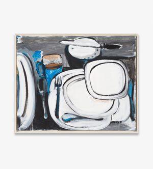o.T. (Gedeck mit Tellern) by Karl Horst Hödicke contemporary artwork