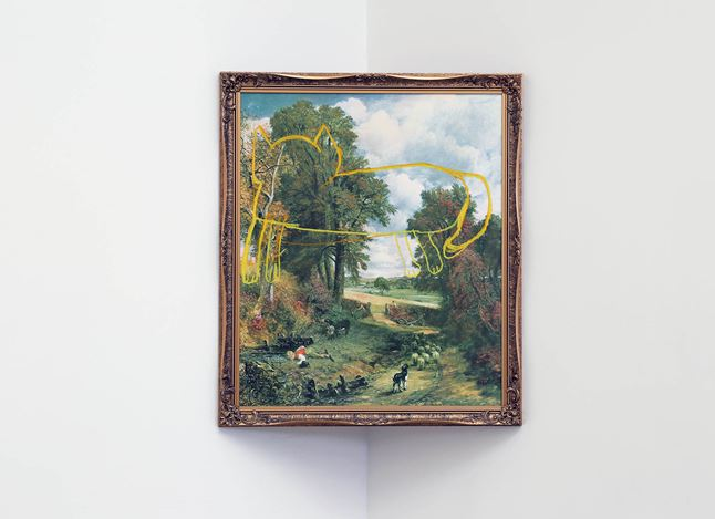 Exhibition view: Sanjay Theodore, A Dictionary of Sanjay's Modern Painting, Jonathan Smart Gallery (8 February–9 March 2019). Courtesy Jonathan Smart Gallery.