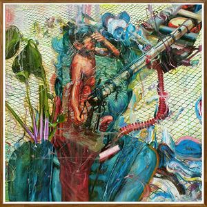 Chieftain by Ronson Culibrina contemporary artwork painting, mixed media