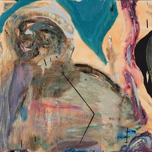 Study on a Black Portrait by Manuel Mathieu contemporary artwork