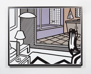 Untitled (Interior with Bathroom Painting) by Jose Dávila contemporary artwork