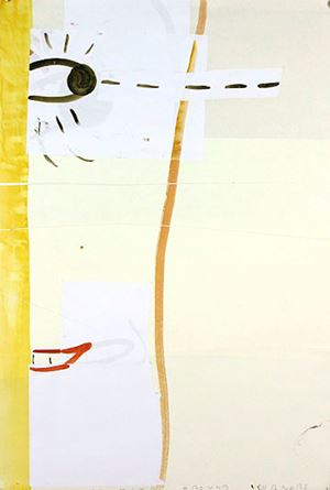 Looking Round Corners by Rose Wylie contemporary artwork