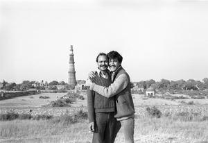 Towards and Indian Gay Image, Saleem Kidwai and Me, Qutb Minar by Sunil Gupta contemporary artwork