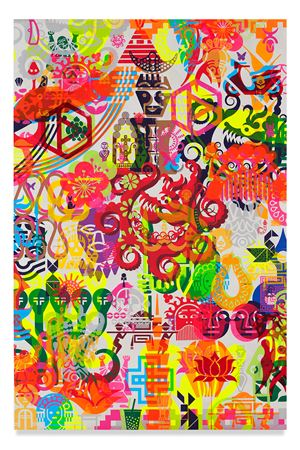 Taipei Dangai 3 by Ryan McGinness contemporary artwork