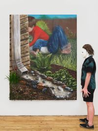In The Gutter by Trey Abdella contemporary artwork painting, mixed media