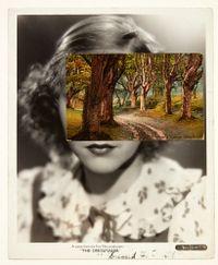Mask (Film Portrait Collage) CCXXIV by John Stezaker contemporary artwork mixed media