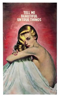 Tell Me Beautiful Untrue Things by The Connor Brothers contemporary artwork painting