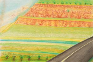 Diagonal Road with Mesa by Richard Artschwager contemporary artwork