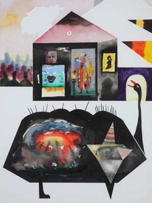 Heimatlied (Home Song) by David Lehmann contemporary artwork painting, works on paper, drawing