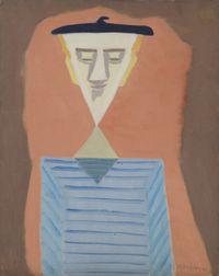 Angular Self-Portrait by Milton Avery contemporary artwork painting