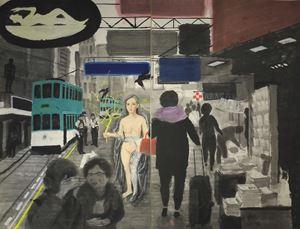 View of Causeway Bay by Wong Shun Kit contemporary artwork