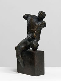 Maquette for Warrior without Shield by Henry Moore contemporary artwork sculpture