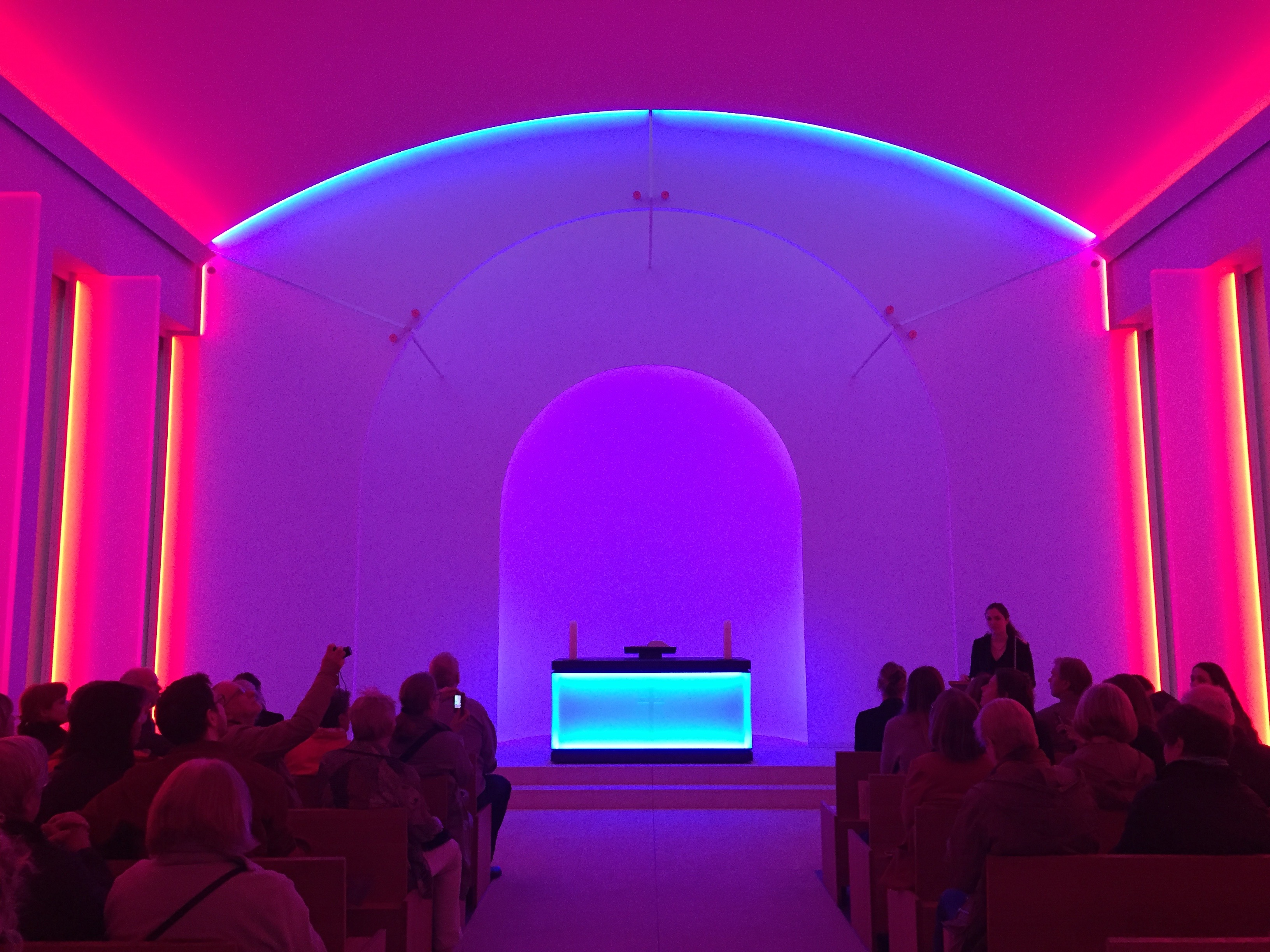 James Turrell at Dorotheenstadt Chapel, Mitte. Courtesy Diana d'Arenberg.