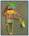 Taking the dog for a walk by OSGEMEOS contemporary artwork 1