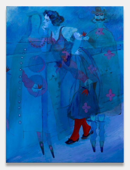 Blue Peer by Joshua Petker contemporary artwork