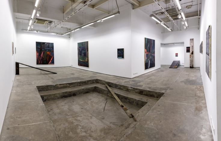 Exhibition view: Biraaj Dodiya,Stone is a Forehead, Experimenter, Hindustan Road (6 March–30 June 2020). Courtesy Experimenter.