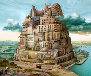 Babel London (after Bruegel) by Emily Allchurch contemporary artwork