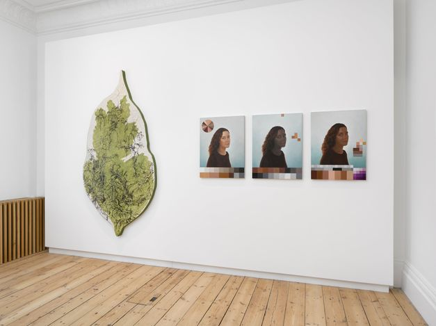 Exhibition view: Group Exhibition, Body Topographies, Lehmann Maupin, London (16 June–4 September 2021). Courtesy Lehmann Maupin, New York, Hong Kong, Seoul, and London. Photo: Jack Hems.