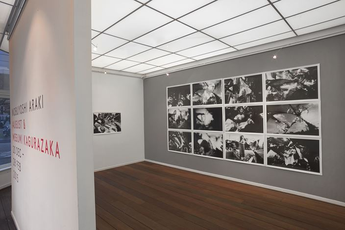 Exhibition view: Nobuyoshi Araki, August and Megumi Kagurazaka, Reflex Amsterdam (20 December 2014–28 February 2015). Courtesy Reflex Amsterdam.
