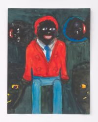 Male Doll with Two Heads and Two Masks by Betye Saar contemporary artwork painting