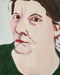 Self Portrait (large head) by Chantal Joffe contemporary artwork painting