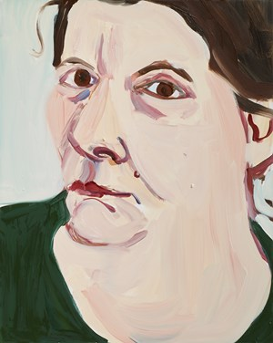 Self Portrait (large head) by Chantal Joffe contemporary artwork