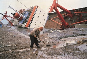 "Shipwreck and Worker, Istanbul from ""TITANIC's wake"" by Allan Sekula contemporary artwork"