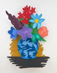 Mixed Bouquet (Filled In) by Tom Wesselmann contemporary artwork painting