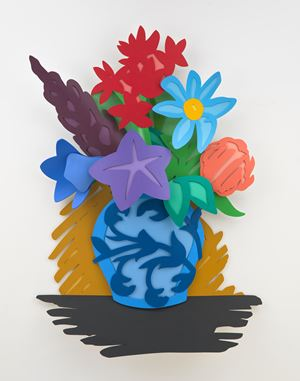 Mixed Bouquet (Filled In) by Tom Wesselmann contemporary artwork