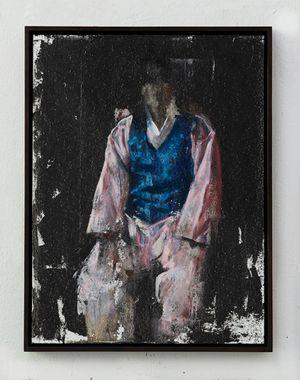 Man with the blue vest by Helena Parada Kim contemporary artwork