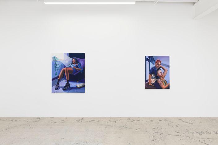Exhibition view: Alannah Farrell, History of Violence, Anat Ebgi, 6150 Wilshire Blvd (5 June–10 July 2021). Courtesy Anat Ebgi, Los Angeles.