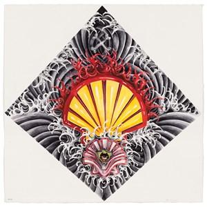 Small Oil (Shell Oil) (Death Comes Coming) by eX de Medici contemporary artwork