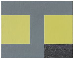 Basics on Composition G by Helmut Federle contemporary artwork