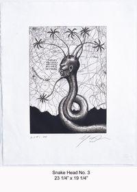 Snake Head No.3 by Ashley Bickerton contemporary artwork print