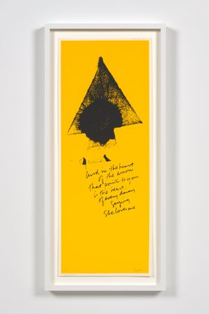 heart of the arrow by Corita Kent contemporary artwork