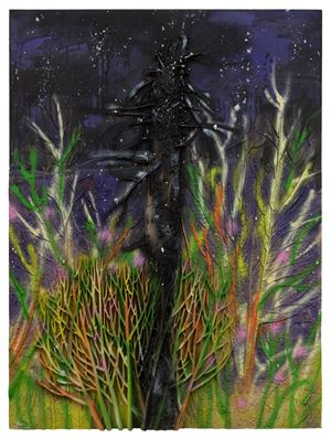 Recollection Pierces the Heart - Tree Struck by Lightning by Tianzhuo Chen contemporary artwork mixed media