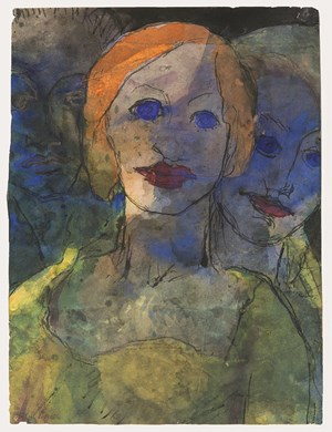 Phantasie (Drei Köpfe) by Emil Nolde contemporary artwork