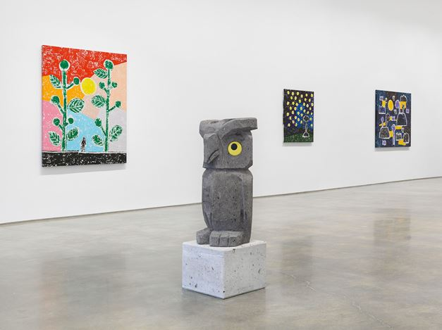 Exhibition view: Olaf Breuning, RAIN, Metro Pictures, New York (10 December 2020–27 February 2021). Courtesy Metro Pictures.